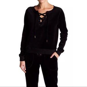 Betsy Johnson Performance Velvet  Sweater Size M